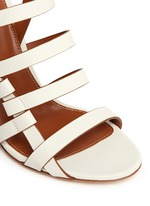 Chunky heel strappy leather sandals