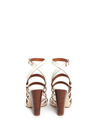 Back View - Click To Enlarge - SERGIO ROSSI - Chunky heel strappy leather sandals