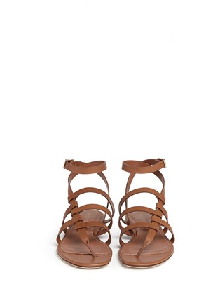 Front View - Click To Enlarge - SERGIO ROSSI - Strappy leather sandals