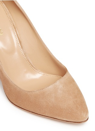 Detail View - Click To Enlarge - SERGIO ROSSI - 'Scarlett' chunky heel suede pumps