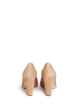 Back View - Click To Enlarge - SERGIO ROSSI - 'Scarlett' chunky heel suede pumps