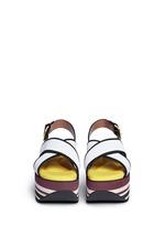 'Zeppa' stripe platform plonge mesh sandals