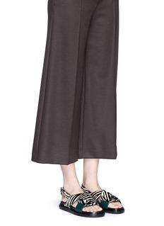 MARNI'Fussbett' zebra print calfhair leather sandals