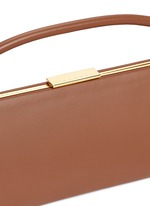 'Sailor' top handle long leather clutch