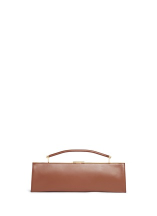Back View - Click To Enlarge - Marni - 'Sailor' top handle long leather clutch