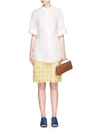 Figure View - Click To Enlarge - Marni - 'Sailor' top handle long leather clutch