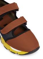strap mesh neoprene sneakers