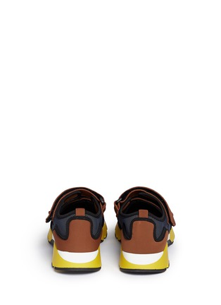 Back View - Click To Enlarge - Marni - strap mesh neoprene sneakers