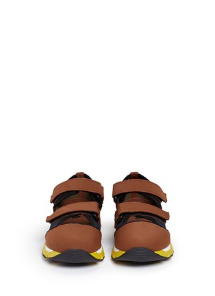 Front View - Click To Enlarge - Marni - strap mesh neoprene sneakers
