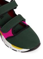 Double strap techno mesh sneakers