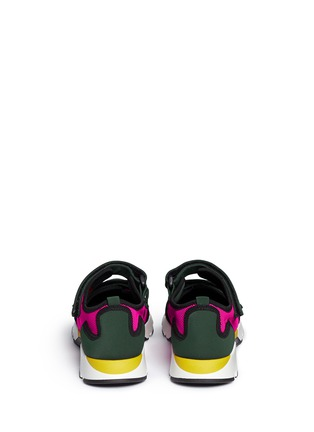 Back View - Click To Enlarge - Marni - Double strap techno mesh sneakers