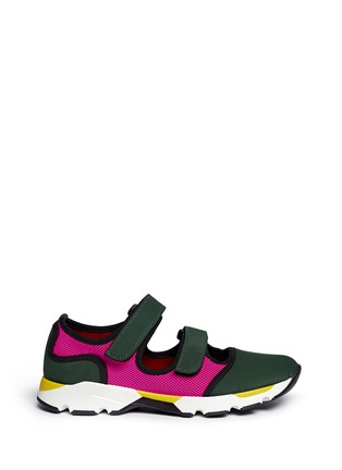 Main View - Click To Enlarge - Marni - Double strap techno mesh sneakers