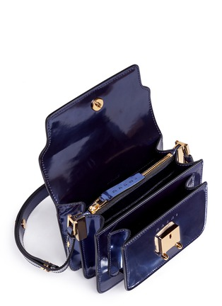 Detail View - Click To Enlarge - Marni - 'Trunk' mini acccordion patent leather flap bag