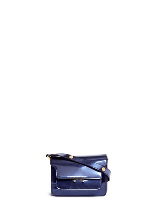 Main View - Click To Enlarge - Marni - 'Trunk' mini acccordion patent leather flap bag