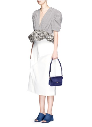 Figure View - Click To Enlarge - Marni - 'Trunk' mini acccordion patent leather flap bag