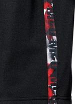 Oversized floral logo stripe sweatshirt