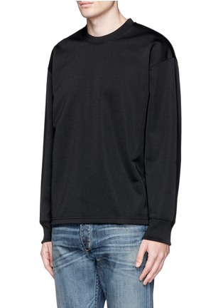 Front View - Click To Enlarge - McQ Alexander McQueen - Oversized floral logo stripe sweatshirt