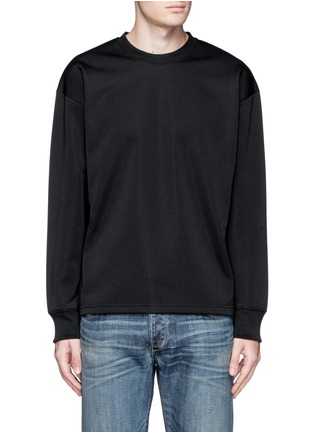 Main View - Click To Enlarge - McQ Alexander McQueen - Oversized floral logo stripe sweatshirt