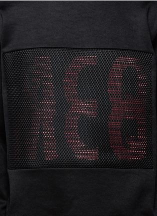 McQ Alexander McQueen-Mesh front logo print sweatshirt