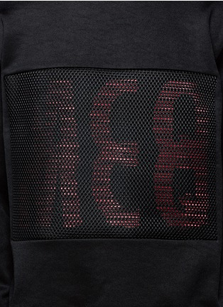 Detail View - Click To Enlarge - McQ Alexander McQueen - Mesh front logo print sweatshirt