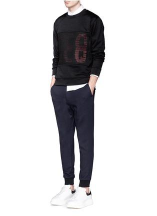 Figure View - Click To Enlarge - McQ Alexander McQueen - Mesh front logo print sweatshirt