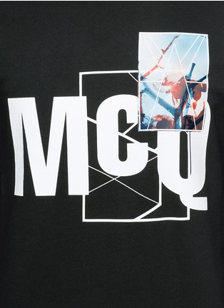 Detail View - Click To Enlarge - McQ Alexander McQueen - Photo patch logo print sweatshirt