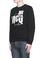 Photo patch logo print sweatshirt