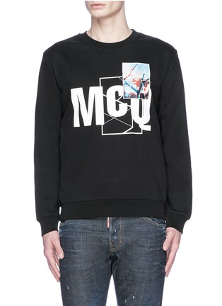 Main View - Click To Enlarge - McQ Alexander McQueen - Photo patch logo print sweatshirt