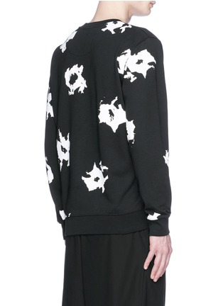Back View - Click To Enlarge - McQ Alexander McQueen - Floral print sweatshirt