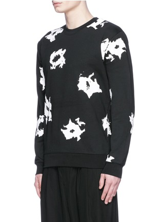 Front View - Click To Enlarge - McQ Alexander McQueen - Floral print sweatshirt