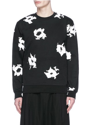 Main View - Click To Enlarge - McQ Alexander McQueen - Floral print sweatshirt