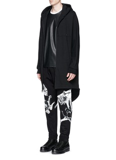 MCQ ALEXANDER MCQUEENOrchid print French terry sweatpants
