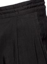 Rib cuff linen blend pants