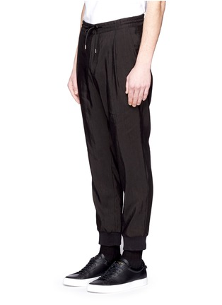 Front View - Click To Enlarge - McQ Alexander McQueen - Rib cuff linen blend pants