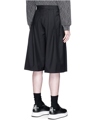 Back View - Click To Enlarge - McQ Alexander McQueen - Triple pleat wool kilt shorts