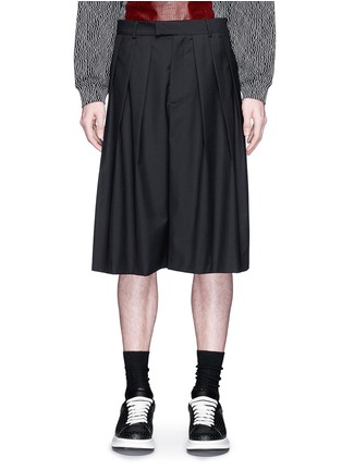 Main View - Click To Enlarge - McQ Alexander McQueen - Triple pleat wool kilt shorts