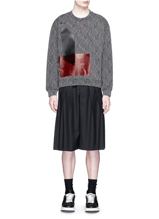 Figure View - Click To Enlarge - McQ Alexander McQueen - Triple pleat wool kilt shorts