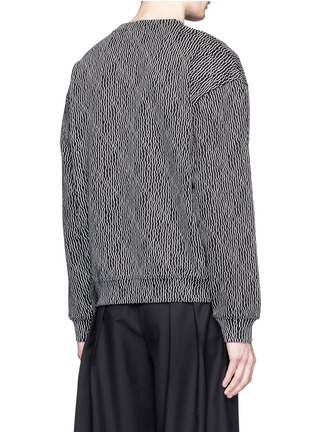 Back View - Click To Enlarge - McQ Alexander McQueen - Geometric stick print oversize sweatshirt