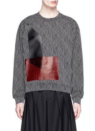 Main View - Click To Enlarge - McQ Alexander McQueen - Geometric stick print oversize sweatshirt
