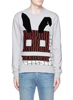 Angry bunny print sweatshirt