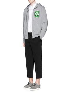 MCQ ALEXANDER MCQUEENContrast logo print zip hoodie