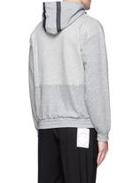 Tape print oversize hoodie