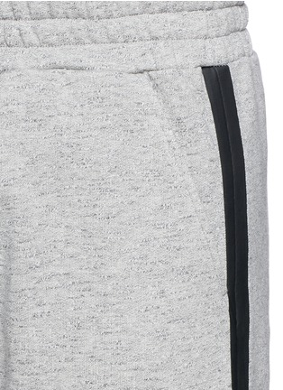 Detail View - Click To Enlarge - McQ Alexander McQueen - Tape print sweat shorts