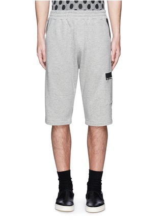 Main View - Click To Enlarge - McQ Alexander McQueen - Tape print sweat shorts