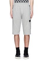 Tape print sweat shorts