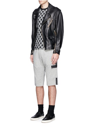 Figure View - Click To Enlarge - McQ Alexander McQueen - Tape print sweat shorts