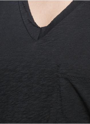 细节 - 点击放大 - RAG & BONE/JEAN - 单色V领纯棉T恤