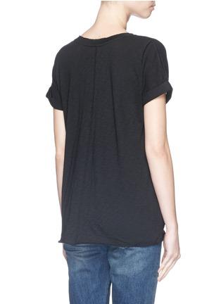 背面 - 点击放大 - RAG & BONE/JEAN - 单色V领纯棉T恤