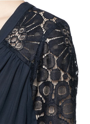 Detail View - Click To Enlarge - Elizabeth and James - 'Lija' floral guipure lace silk blouse