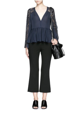 Figure View - Click To Enlarge - Elizabeth and James - 'Lija' floral guipure lace silk blouse